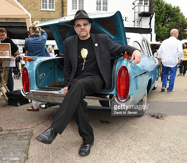 Gavin Turk attends the Vauxhall Art Car Boot Fair 2015 on June 14 2015 in London England