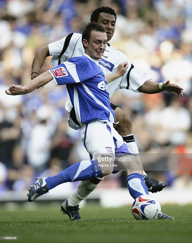 Gavin Williams of Ipswich clears the ball during the Coca-Cola Championship Match between Ipswich Town and Derby County at Portman Road on April 14, 2007 in Ipswich, England.