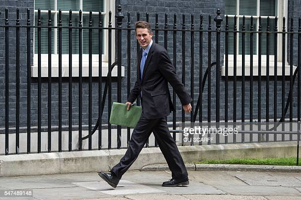 Gavin Williamson the newly appointed chief whip arrives at 10 Downing Street in London on July 15 2016 / AFP / OLI SCARFF