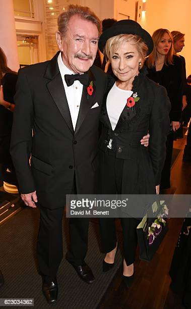 Gawn Grainger and Zoe Wanamaker attend a cocktail reception at The 62nd London Evening Standard Theatre Awards recognising excellence from across the...