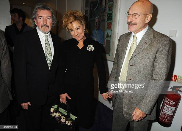 Gawn Grainger Zoe Wanamaker and Patrick Stewart attend the reception ahead of the London Evening Standard Theatre Awards at the Royal Opera House on...