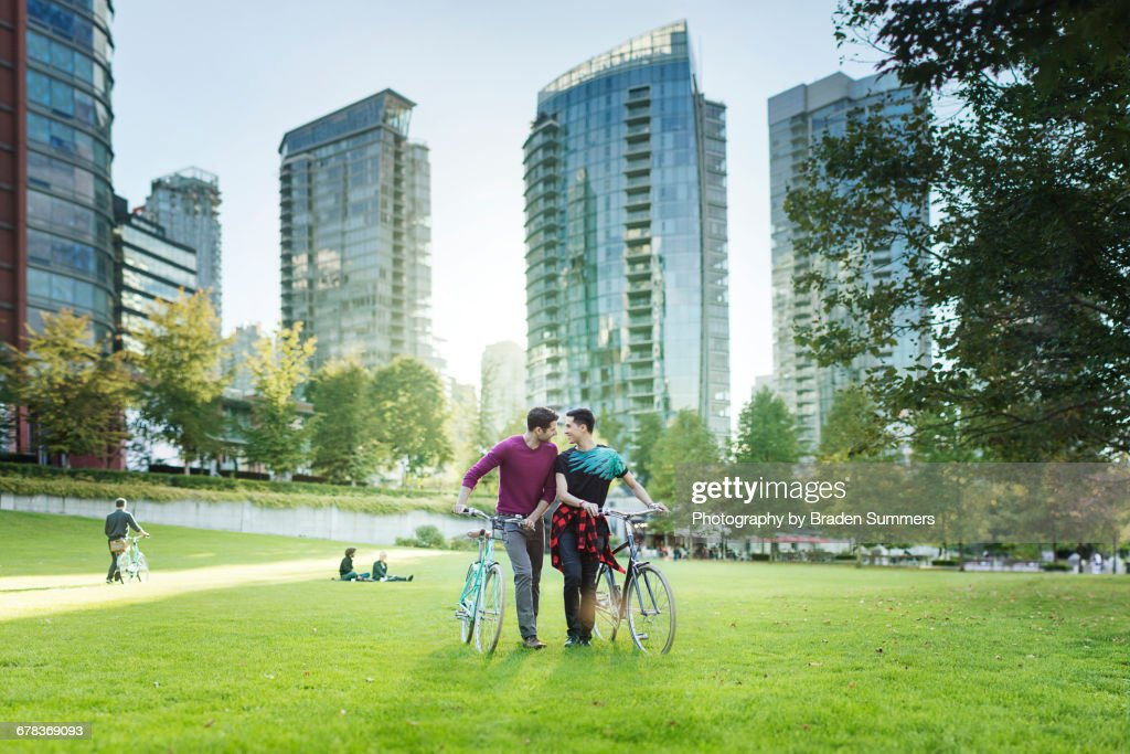 Gay bicyclists in Vancouver