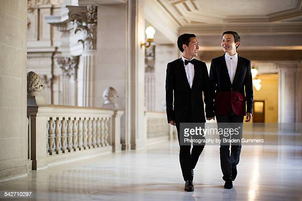 Gay couple getting married in San Francisco.