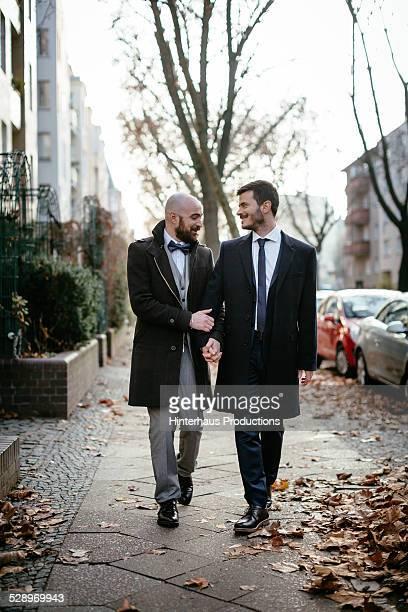 Gay Couple Having A Walk