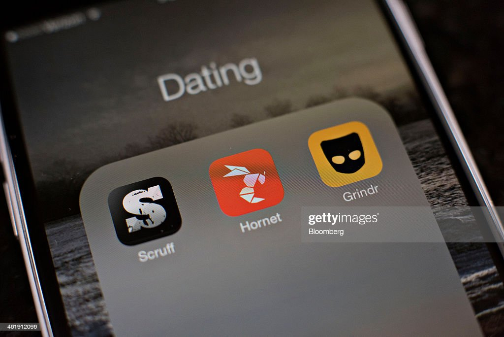 Gay dating apps Scruff Hornet and Grindr are displayed for a photograph on an Apple Inc iPhone in Tiskilwa Illinois US on Tuesday Jan 20 2015 For gay...