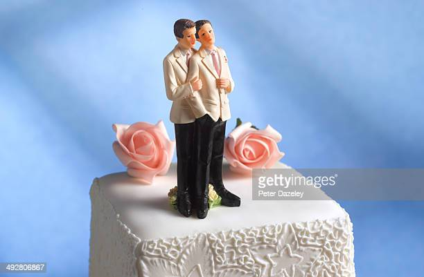 Gay male wedding figurines