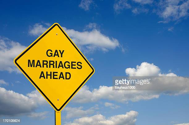 Gay Marriage Road Sign