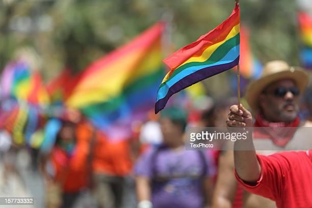 Desfile del orgullo Gay bandera