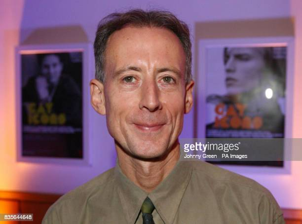 Gay rights activist Peter Tatchell attends the preview to the National Portrait Gallery's Gay Icons exhibition inside the central London gallery