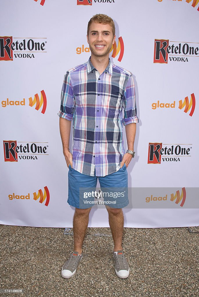 Gay rights activist Shane Bitney Crone attends GLAAD's annual food-themed fundraiser 'GLAAD Hancock Park' on July 20, 2013 in Los Angeles, California.
