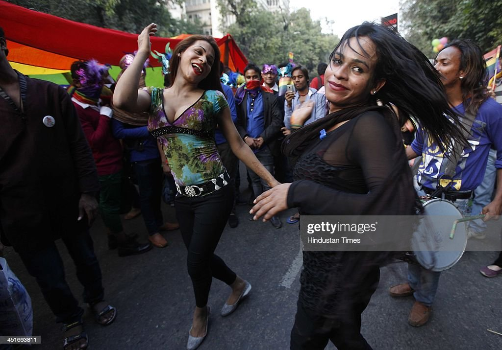Gay rights supporters take part in the Gay Pride Parade 2013 on November 24, 2013 in New Delhi, India. Hundreds of gays, lesbians, transsexuals and heterosexual supporters attended the event.