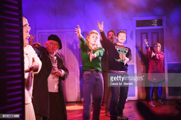 Gay Soper Barry James Kelly Price John Hopkins Dean Chisnall Connor Davis and Lara Denning perform during the press night performance of 'The Secret...