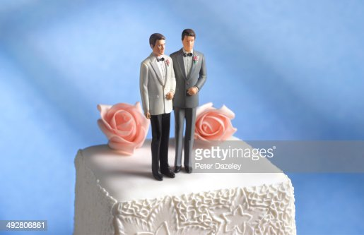 Gay wedding cake figurine