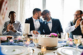 Gay wedding ceremony celebration party