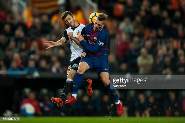 Gaya Deulofeu during the match between Valencia CF vs FC Barcelona week 13 of La Liga at Mestalla Stadium Valencia SPAIN on 26th November 2017