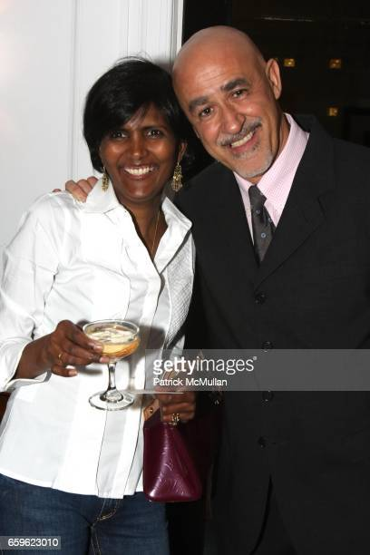 Gayatri Steeg and Aldo Andreoli attend ASSOULINE Vintage Cocktails Launch at David Chu Bespoke at The Bespoke Lounge on October 22 2009 in New York...