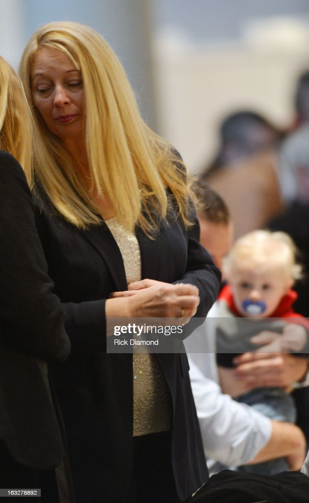Gayle Inge - Mindy's Mother attends the memorial service for Mindy McCready at Cathedral of the Incarnation on March 6, 2013 in Nashville, Tennessee. McCready was found dead from an apparent suicide on February 17, 2013 at her home in Heber Springs, Arkansas.