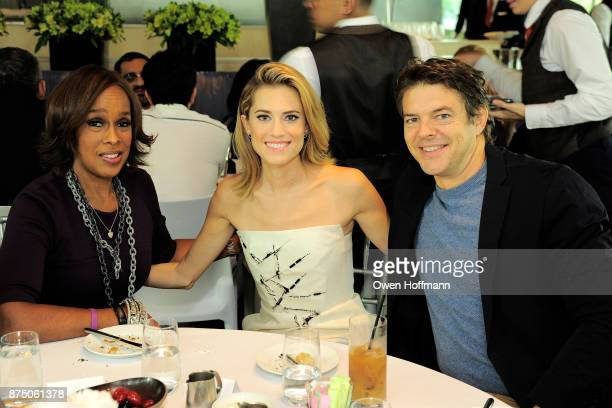 Gayle King Allison Williams and Jason Blum attend Universal Pictures' 'Get Out' Peggy Siegel Luncheon at Lincoln Ristorante on November 15 2017 in...
