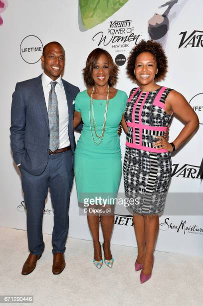 Gayle King and guests attend Variety's Power of Women New York at Cipriani Midtown on April 21 2017 in New York City