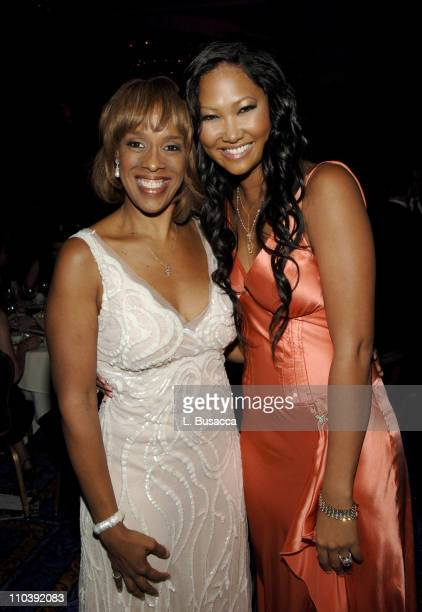 Gayle King and Kimora Lee Simmons during American Women in Radio Television 30th Annual Gracie Allen Awards Inside at New York Marriot Marquis Hotel...