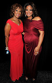 Gayle King and Laila Ali attend the Heart Truth's Red Dress Collection 2011 during MecerdesBenz fashion week at The Theatre at Lincoln Center on...