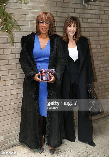 Gayle King and Lucy Kaylin arrive for the Hearst 100 Luncheon at Michael's on December 12 2016 in New York City
