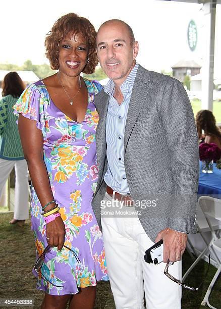 Gayle King and Matt Lauer attend the 39th Annual Hampton Classic Horse Show Grand Prix on August 31 2014 in Bridgehampton New York