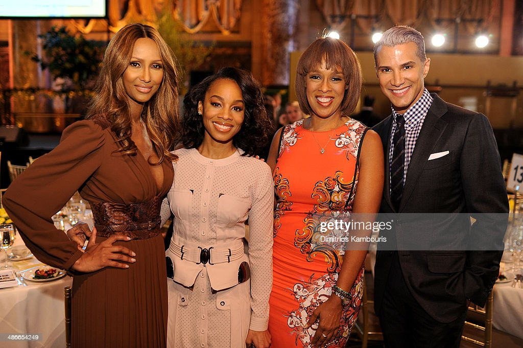 Gayle King Anika Noni Rose Iman and Jay Manuel attend Variety Power Of Women New York presented by FYI at Cipriani 42nd Street on April 25 2014 in...