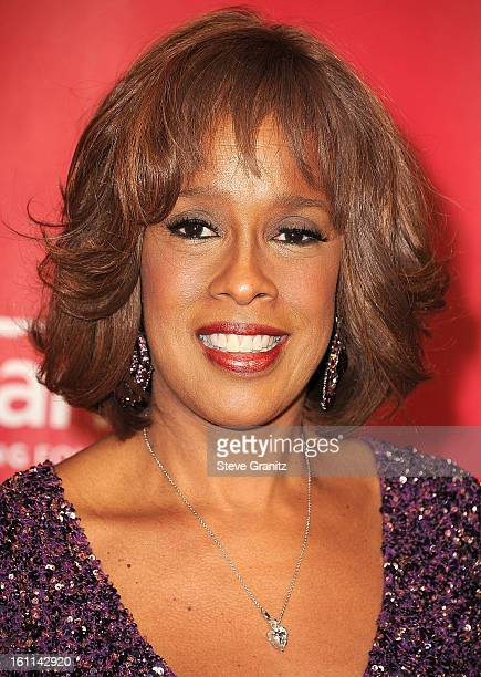 Gayle King arrives at the 2013 MusiCares Person Of The Year Honoring Bruce Springsteen at Los Angeles Convention Center on February 8 2013 in Los...