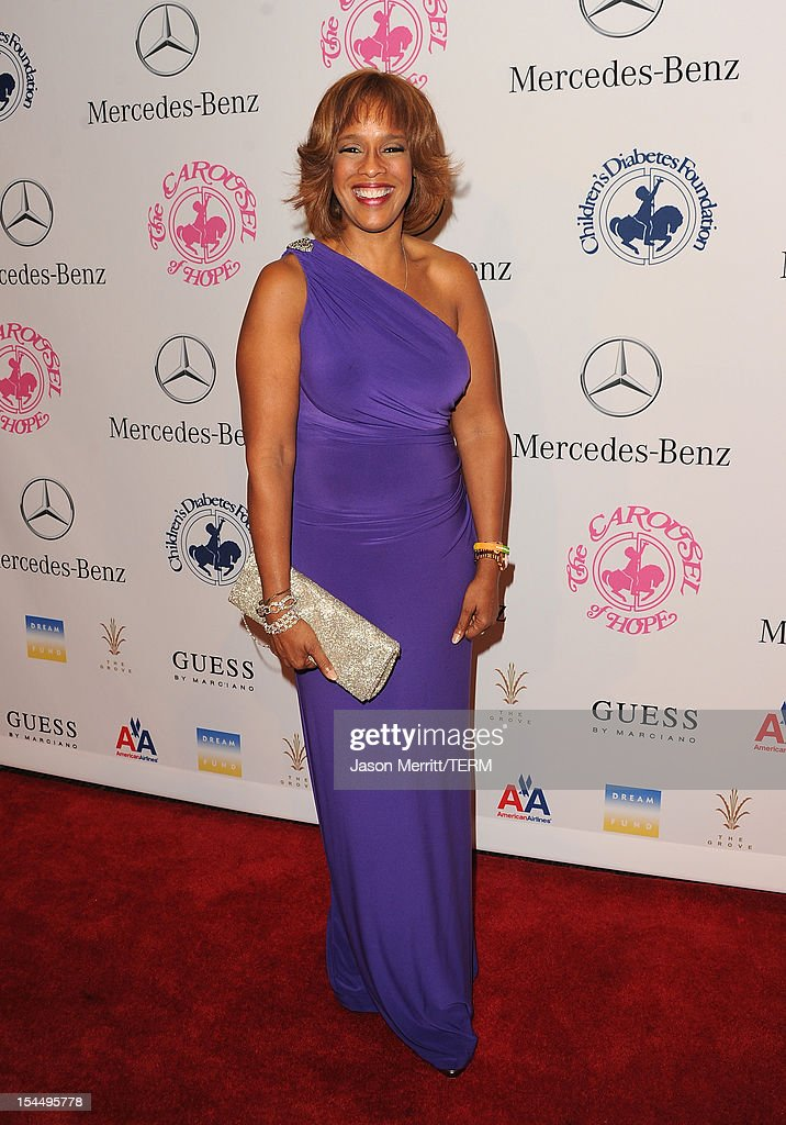 Gayle King arrives at the 26th Anniversary Carousel Of Hope Ball presented by Mercedes-Benz at The Beverly Hilton Hotel on October 20, 2012 in Beverly Hills, California.