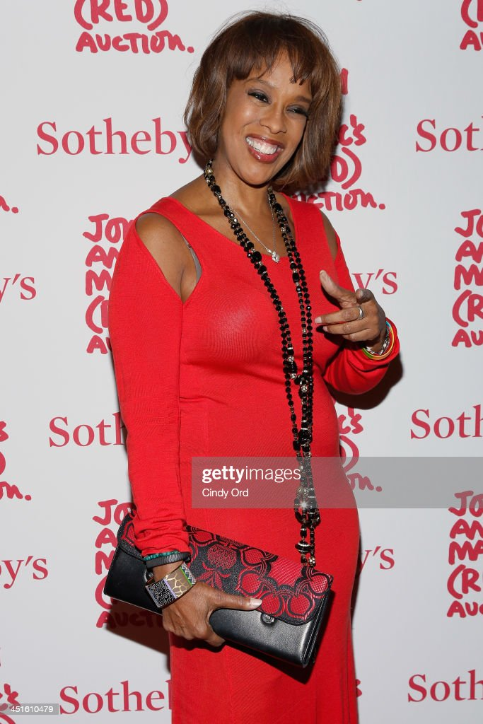 <a gi-track='captionPersonalityLinkClicked' href=/galleries/search?phrase=Gayle+King&family=editorial&specificpeople=215469 ng-click='$event.stopPropagation()'>Gayle King</a> attends Jony And Marc's (RED) Auction at Sotheby's on November 23, 2013 in New York City. (Photo by Cindy Ord/Getty Images for (RED))