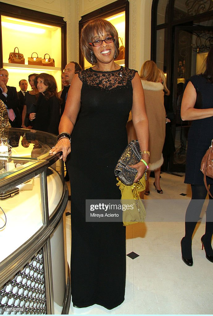 Gayle King attends Ralph Lauren Presents Exclusive Screening Of Hitchcock's To Catch A Thief Celebrating The Princess Grace Foundation at Ralph Lauren Women's Store on October 28, 2013 in New York City.
