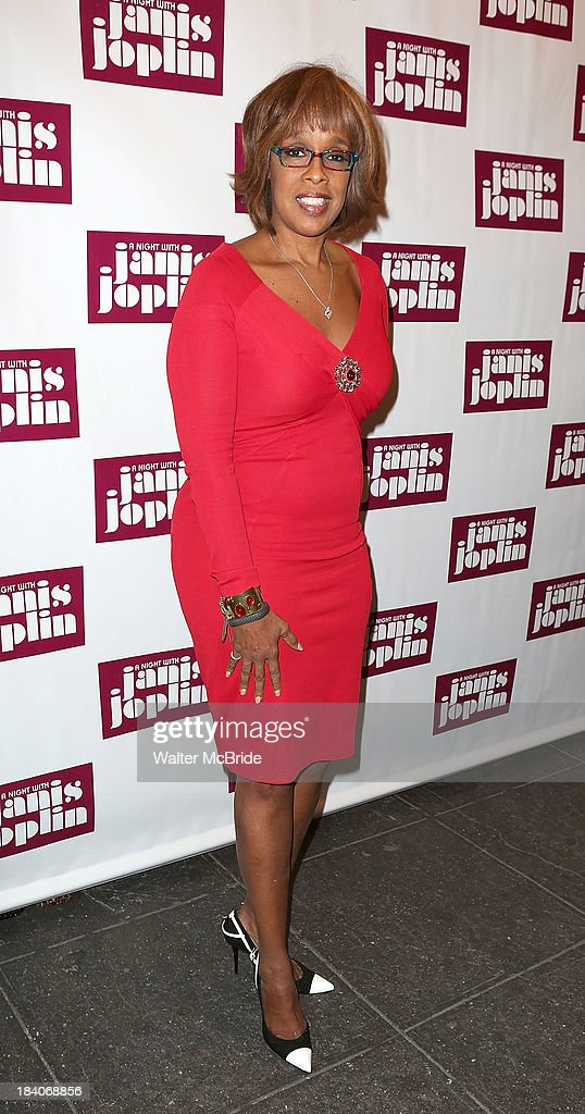 Gayle King attends the broadway opening night of 'A Night With Janis Joplin' at Lyceum Theatre on October 10, 2013 in New York City.