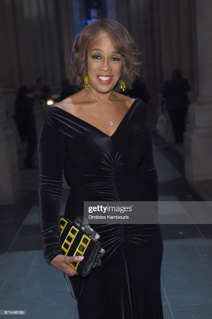 Gayle King attends the Elton John AIDS Foundation 25th Year And Honors Founder Sir Elton John During New York Fall Gala at Cathedral of St. John the Divine on November 7, 2017 in New York City.