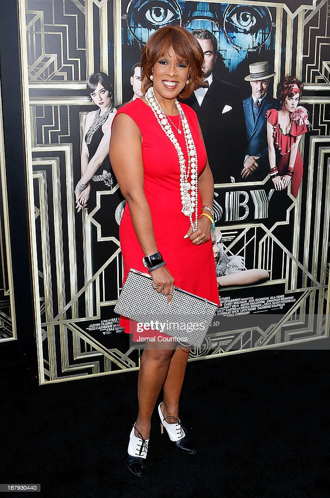 Gayle King attends 'The Great Gatsby' world premiere at Avery Fisher Hall at Lincoln Center for the Performing Arts on May 1, 2013 in New York City.