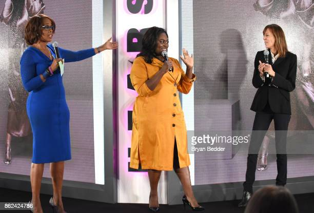Gayle King Danielle Brooks and Lucy Kaylin speak onstage Hearst Magazines' Unbound Access MagFront at Hearst Tower on October 17 2017 in New York City