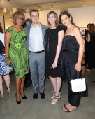 Gayle King Hugh Evans Jane Rosenthal and Katie Holmes attend the Third Annual GLOBAL CITIZEN FESTIVAL Launch Party at Milk Studios on July 10 2014 in...