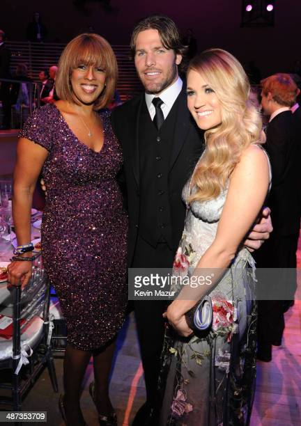 Gayle King Mike Fisher and Carrie Underwood attend the TIME 100 Gala TIME's 100 most influential people in the world at Jazz at Lincoln Center on...