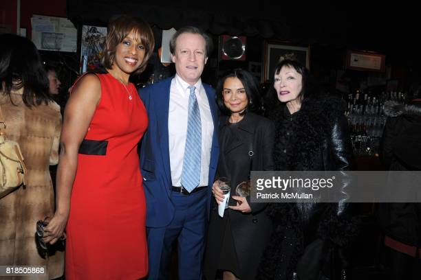 Gayle King Patrick McMullan Mary Boone Larissa attend INTERVIEW celebrates Patrick McMullan's 20th Anniversary at Elaine's on February 10 2009 in New...