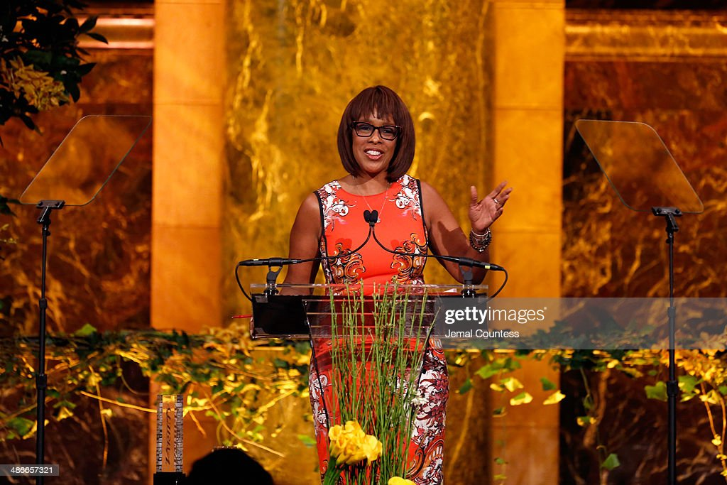 Gayle King speaks onstage at Variety Power Of Women New York presented by FYI at Cipriani 42nd Street on April 25 2014 in New York City