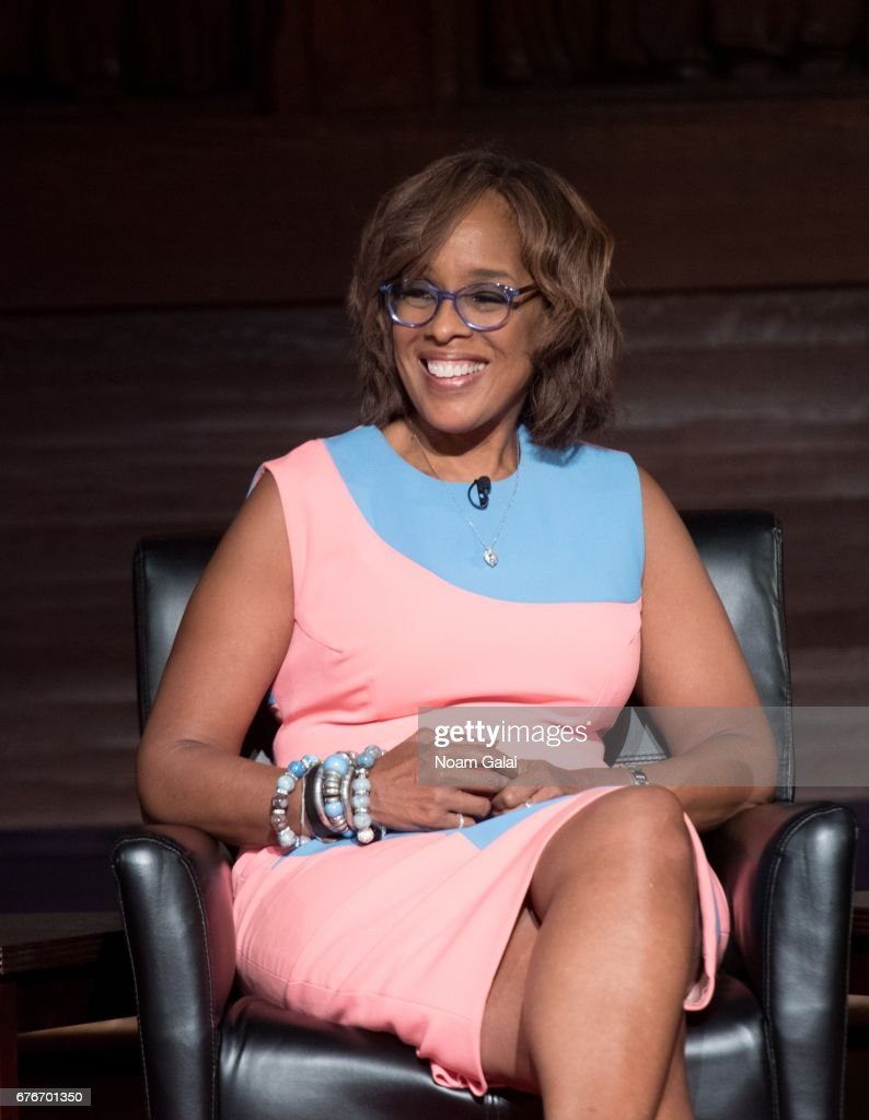 Gayle King speaks onstage during Times Talks in Conversation: Sheila Nevins with Gayle King, Jenna Lyons and Janet Mock at New York Society for Ethical Culture on May 2, 2017 in New York City.
