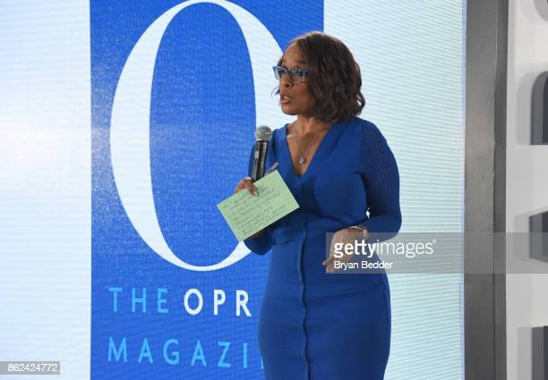 Gayle King speaks onstage Hearst Magazines' Unbound Access MagFront at Hearst Tower on October 17 2017 in New York City