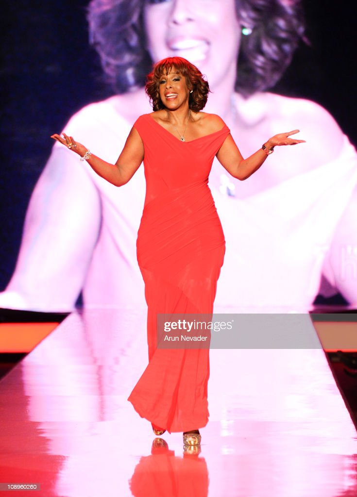 Gayle King wearing Donna Karan walks the runway at the Heart Truth Fall 2011 fashion show during Mercedes-Benz Fashion Week at The Theatre at Lincoln Center on February 9, 2011 in New York City.