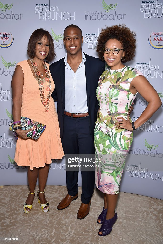 <a gi-track='captionPersonalityLinkClicked' href=/galleries/search?phrase=Gayle+King&family=editorial&specificpeople=215469 ng-click='$event.stopPropagation()'>Gayle King</a>, Will Bumpus and Kirby Bumpus attend the Garden Brunch prior to the 102nd White House Correspondents' Association Dinner at the Beall-Washington House on April 30, 2016 in Washington, DC.