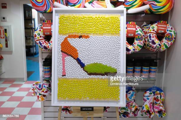 Gayle King's artwork on display as Dylan Lauren celebrates the Sweet 16 of Dylan's Candy Bar on October 17 2017 in New York City