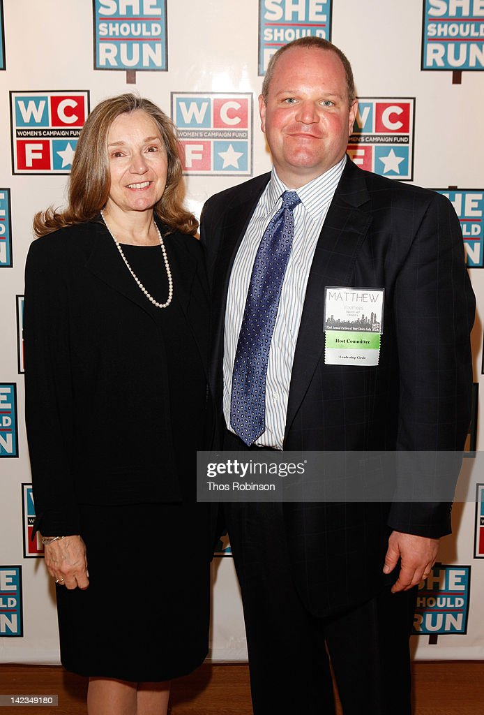 Gayle Noble and Matthew Voorhees attend the 32nd Annual Women's Campaign Fund Parties of Your Choice Gala at Christie's on April 2, 2012 in New York City.