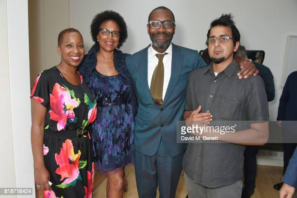 Gaylene Gould Barbara Wilson Sir Lenny Henry and Madani Younis attend the Mayor of London's Summer Culture Reception on July 18 2017 in London England