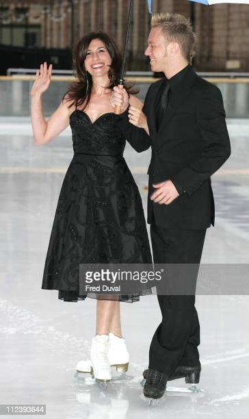 Gaynor Faye and Daniel Whiston during 'Dancing on Ice' TV Press Launch at Natural History Museum in London Great Britain