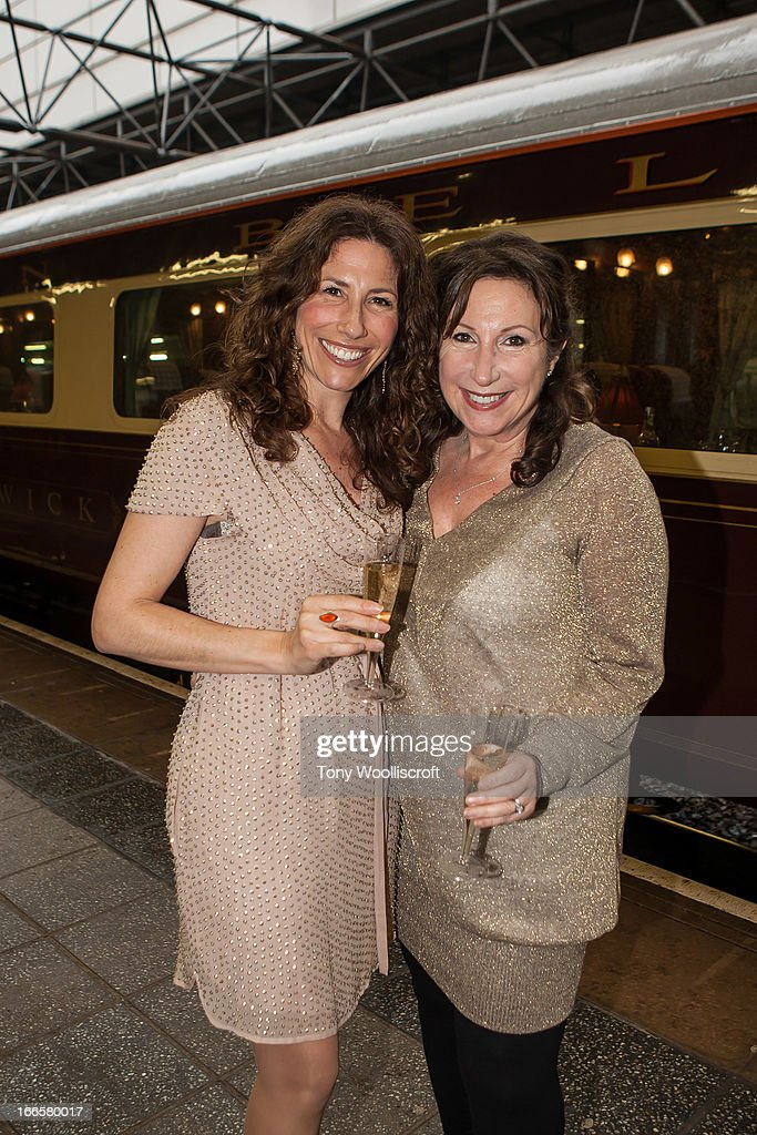 Gaynor Faye and Kay Mellor attends as The northern Belle makes a fundraising trip in aid of the 'When You Wish Upon a Star' charity on April 13, 2013 in Manchester, England.