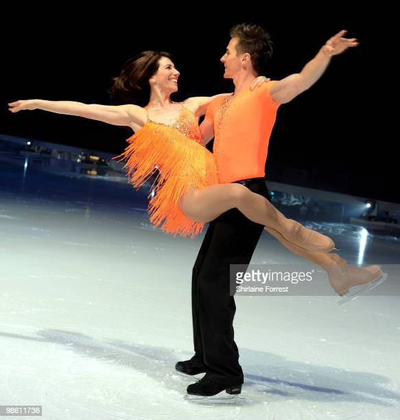 Gaynor Faye and Matt Evers attend a photocall for Torvill Dean's 'Dancing On Ice' tour 2010 at MEN Arena on April 22 2010 in Manchester England